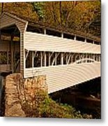 Knox Bridge In Autumn Metal Print