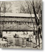 Knox Valley Forge Covered Bridge Metal Print