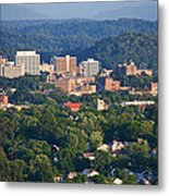 Knoxville Skyline In Summer Metal Print