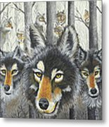Knoxville Wolves Metal Print