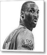 Kobe Bryant Metal Print by Don Medina