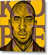 Kobe Bryant Lakers' Gold Metal Print by Rabab Ali
