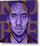 Kobe Bryant Lakers' Purple Metal Print by Rabab Ali