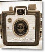Kodak Brownie Holiday Flash Metal Print