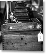Kodak Folding Autographic Brownie 2-a Black And White Metal Print by Kaye Menner