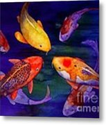 Koi Friends Metal Print