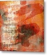 Koi In Orange Metal Print