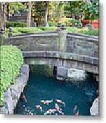 Koi Pond In Senso-ji Temple Grounds Metal Print