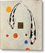 Koi Universe Utsuri Mono Painting Metal Print