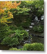 Kokoen Garden Waterfall - Himeji Japan Metal Print by Daniel Hagerman