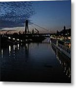 Koln Rhine Reflections Metal Print