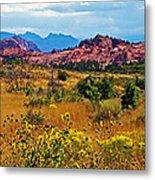 Kolob Terrace Road In Zion National Park-utah Metal Print