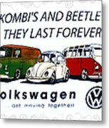 Kombis And Beetles Last Forever Metal Print