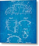 Komenda Vw Beetle Body Design Patent Art 1945 Blueprint Metal Print