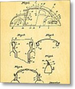 Komenda Vw Beetle Body Design Patent Art 1945 Metal Print by Ian Monk