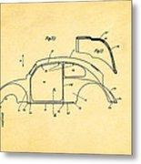 Komenda Vw Beetle Body Design Patent Art 2 1944 Metal Print