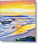 Kona Coast Sunset Metal Print