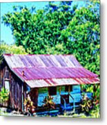 Kona Coffee Shack Metal Print
