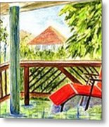 Kona View From The Deck Metal Print