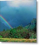 Koolau Mountains And Rainbow Metal Print