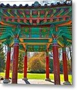Korean Pavilion At Vandusen Botanical Garden Metal Print