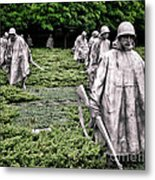 Korean War Veterans Memorial Metal Print by Olivier Le Queinec