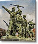 Korean War Veterans Memorial South Korea Metal Print