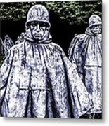 Korean War Veterans Memorial Washington Metal Print