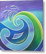 Koru Surf Metal Print by Reina Cottier