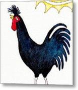 Kosovo Long Crowing Rooster Metal Print