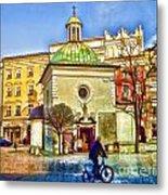 Krakow Main Square Old Town  Metal Print