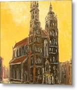 Krakow - Mariacki Church Metal Print