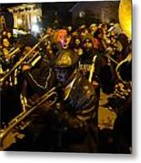 Krewe Du Vieux Parade In New Orleans Metal Print by Louis Maistros