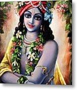 Krishna -forest Boy Metal Print