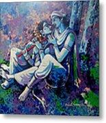 Krishna Radha Metal Print