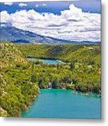Krka River National Park Canyon Metal Print