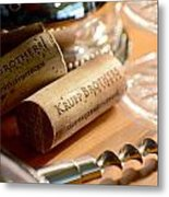 Krupp Brothers Uncorked Metal Print