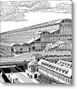 Krupp's Factory, Essen  Machine Shop Ix Metal Print