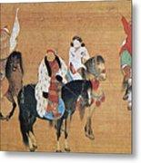 Kublai Khan Hunting Metal Print