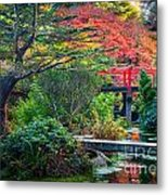 Kubota Gardens In Autumn Metal Print
