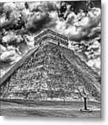 Kukulcan Pyramid V2 Metal Print
