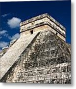 Kukulkan Pyramid At Chichen Itza Metal Print