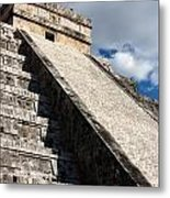Kukulkan Pyramid Shadows Metal Print