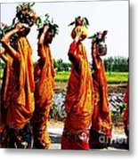 Kumaoni Ladies Metal Print by Ankeeta Bansal