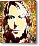 Kurt Cobain Digital Painting Metal Print