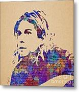 Kurt Cobain Watercolor Metal Print