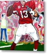 Kurt Warner-in The Zone Metal Print by Bill Manson