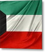 Kuwait Flag  Metal Print by Les Cunliffe