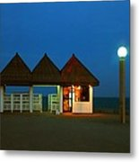 Kuwaiti Pier Snack Bar At Dusk Metal Print