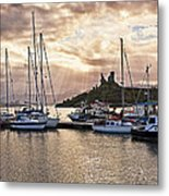 Kyleakin Harbor And Castle Moil Metal Print